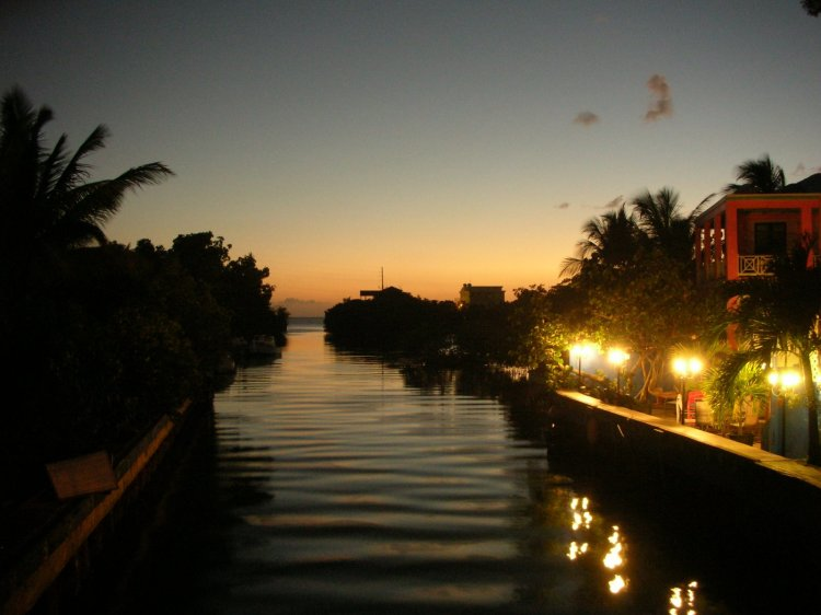 View of a canal in Culebra, Puerto Rico