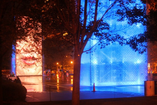 Crown Fountain in Millennium Park