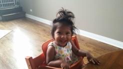 Asha with crazy hair