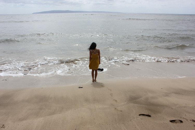 Chika at the beach in Maui, Hawaii 2014