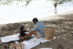 Beachside picnic. Maui, Hawaii. 2014