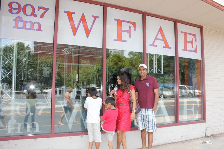 family photo by WFAE Charlotte's public radio station