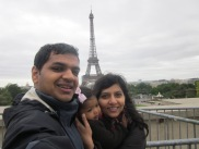 Asha, Devang, and Chika in Paris