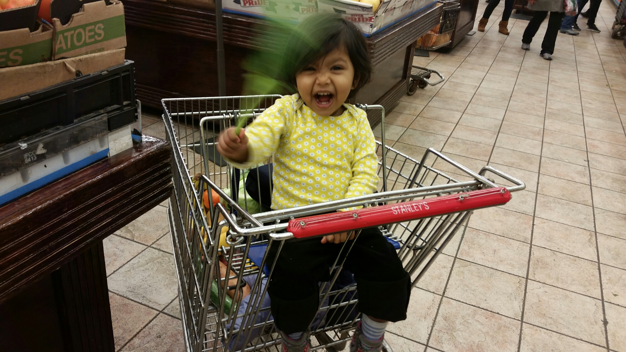 Asha grocery shopping