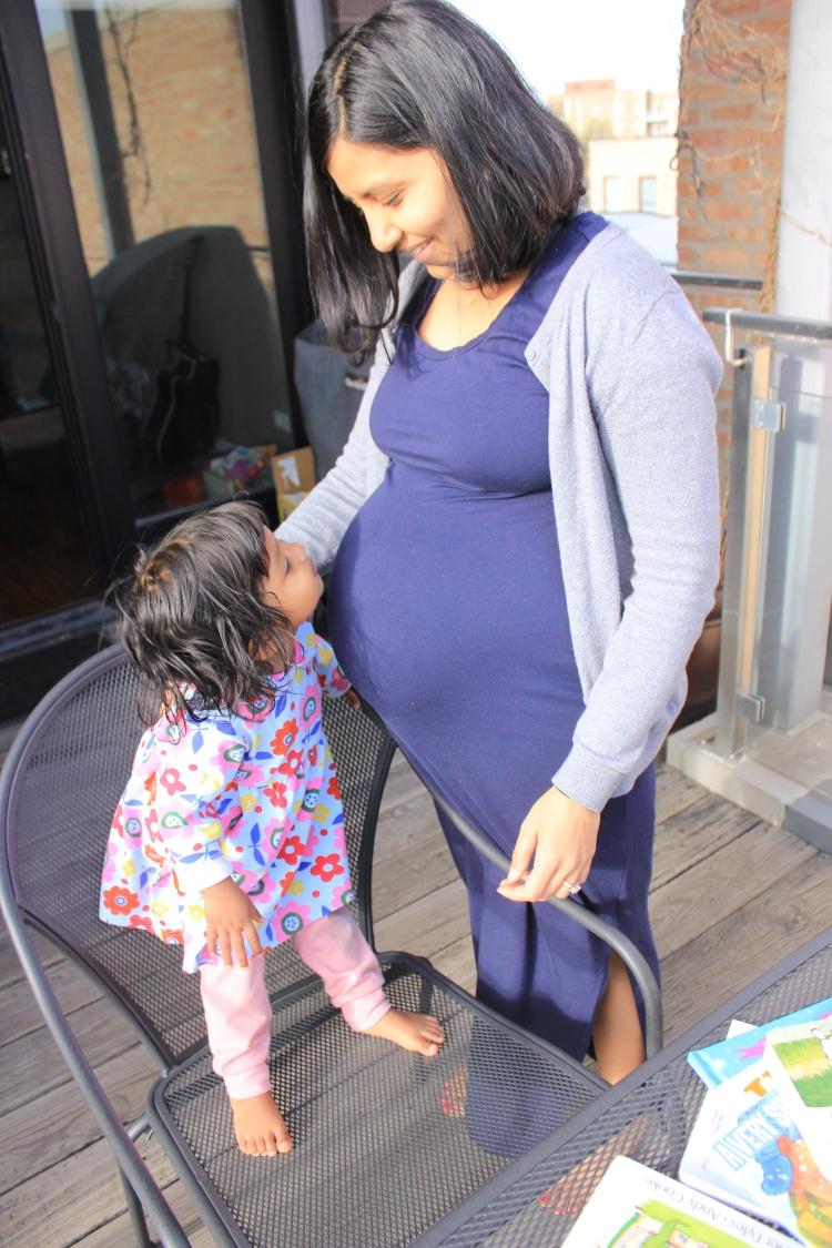 Pregnant Chika and Asha