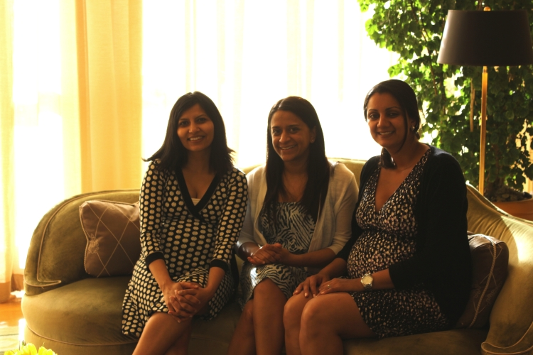 Chika, Lisa, Komal at afternoon tea at the Peninsula