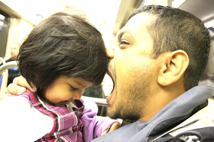 Dad eating Asha