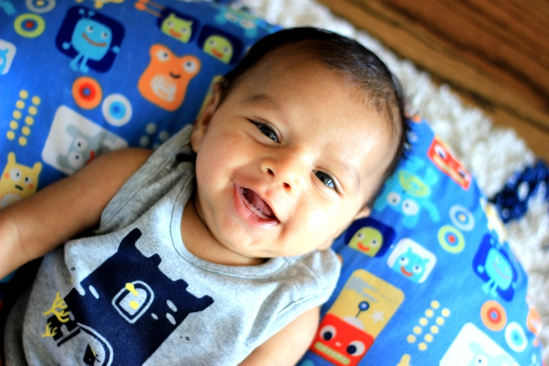 Arjun smiling