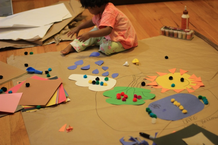 AAsha doing arts and crafts at home