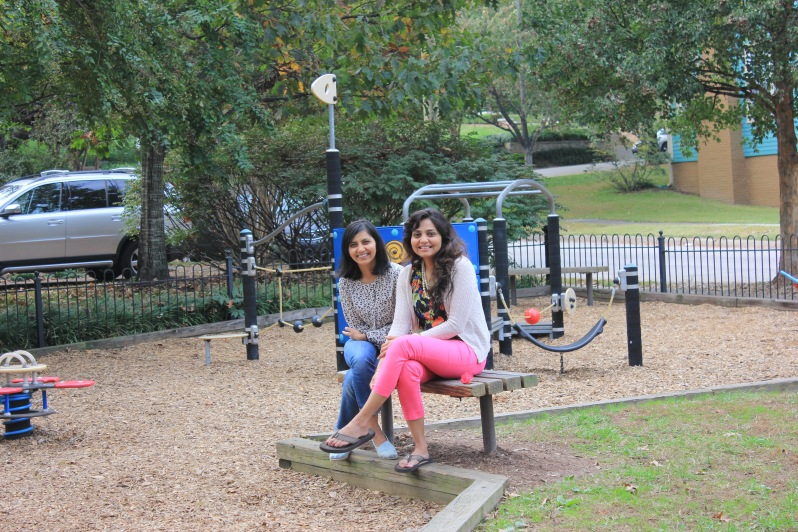 Me and my sister Deepal at the playground