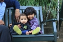Arjun and Asha on Swing