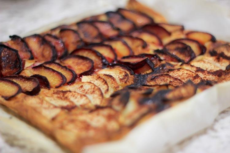 burnt food - plum and apple tart