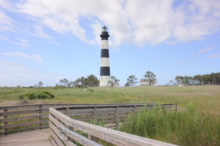 Bodie Lighthouse. Nags Head Beach, Outer Banks NC