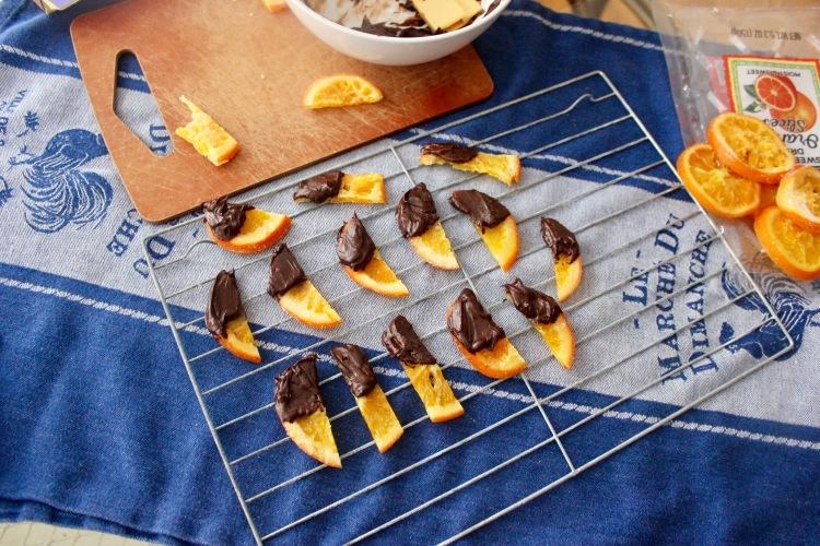 dried orange dipped in dark chocolate