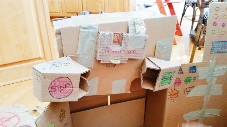 cardboard spaceship